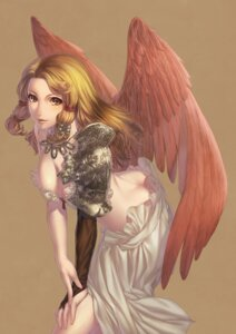 Rating: Questionable Score: 35 Tags: cleavage simosi wings User: Velociraptor