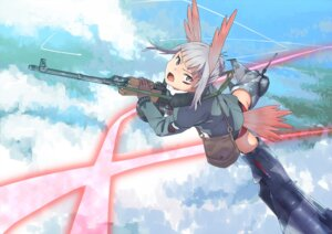 Rating: Safe Score: 8 Tags: gun heidimarie_w_schnaufer jack_hamster pantsu strike_witches tail User: Radioactive