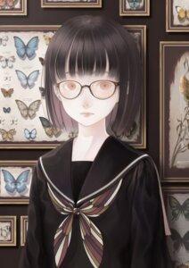 Rating: Safe Score: 12 Tags: bouno_satoshi megane seifuku User: animeprincess
