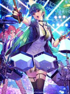 Rating: Safe Score: 44 Tags: cleavage fishnets gang_road_joker garter guitar seifuku soo_kyung_oh thighhighs User: Mr_GT
