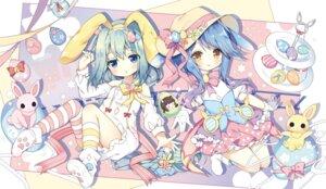 Rating: Safe Score: 17 Tags: animal_ears azur_lane bunny_ears dress mikazuki_(azur_lane) minazuki_(azur_lane) nogi_takayoshi thighhighs User: monketh