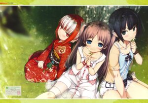 Rating: Safe Score: 59 Tags: arishima_alice cura dress kimono lose monobeno sawai_natsuha sumi_(monobeno) summer_dress User: fireattack