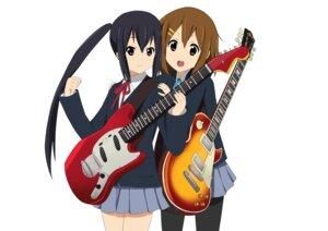 Rating: Safe Score: 17 Tags: guitar hirasawa_yui k-on! nakano_azusa pantyhose seifuku yuyui User: Manabi