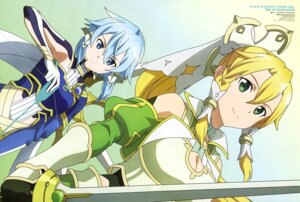 Rating: Safe Score: 44 Tags: aqua_inc. armor cleavage leafa sinon sword sword_art_online sword_art_online_alicization weapon User: drop