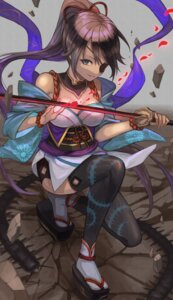 Rating: Safe Score: 10 Tags: amahara_subaru cleavage eyepatch japanese_clothes sword thighhighs User: Dreista