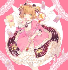 Rating: Safe Score: 25 Tags: card_captor_sakura dress kerberos kinomoto_sakura liechiberry weapon wings User: Mr_GT
