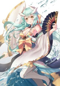 Rating: Safe Score: 64 Tags: cleavage fate/grand_order holmemee horns japanese_clothes kiyohime_(fate/grand_order) open_shirt thighhighs User: Mr_GT