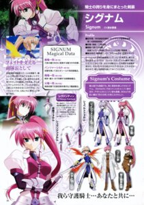 Rating: Safe Score: 4 Tags: character_design mahou_shoujo_lyrical_nanoha mahou_shoujo_lyrical_nanoha_strikers pantyhose profile_page signum User: noirblack