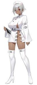 Rating: Questionable Score: 48 Tags: garter heels no_bra nopan nurse open_shirt thighhighs yamanokami_eaka User: Munchau