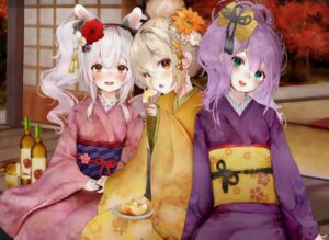 Rating: Safe Score: 26 Tags: animal_ears ayanami_(azur_lane) azur_lane bunny_ears javelin_(azur_lane) kimono laffey_(azur_lane) rasukii_(pamiton) User: yanis