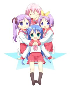 Rating: Safe Score: 17 Tags: hiiragi_kagami hiiragi_tsukasa izumi_konata lucky_star mani megane seifuku takara_miyuki User: SciFi