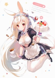 Rating: Questionable Score: 42 Tags: animal_ears bunny_ears cleavage cynthia_riddle erect_nipples heels maid p19 practice thighhighs User: Radioactive