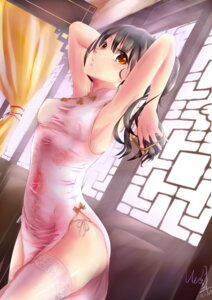 Rating: Safe Score: 44 Tags: aoi_lavender chinadress erect_nipples no_bra pantsu signed string_panties thighhighs User: Mr_GT