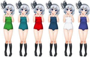 Rating: Safe Score: 4 Tags: gengorou konpaku_youmu school_swimsuit swimsuits touhou User: Radioactive