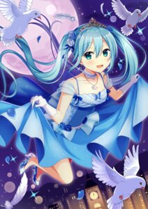 Rating: Safe Score: 36 Tags: dress hatsune_miku heels skirt_lift vocaloid yuusa User: Mr_GT