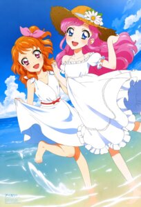 Rating: Questionable Score: 15 Tags: aikatsu! amahane_madoka dress feet oozora_akari sakai_kasumi skirt_lift wet User: drop