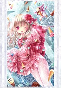 Rating: Safe Score: 58 Tags: dress fishnets lolita_fashion pantsu pantyhose see_through skirt_lift tinkle User: RICO740