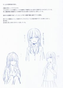 Rating: Safe Score: 4 Tags: fukahire_sanba monochrome pajama ruinon seifuku sketch sweater User: Radioactive