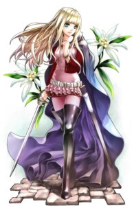 Rating: Safe Score: 21 Tags: kininaljaguar sword thighhighs User: Radioactive