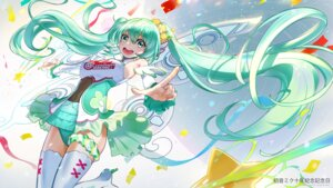 Rating: Safe Score: 17 Tags: dress el-zheng hatsune_miku heels thighhighs vocaloid User: Mr_GT