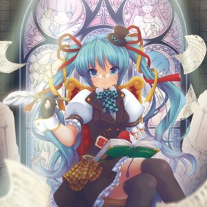 Rating: Safe Score: 26 Tags: hatsune_miku megane thighhighs vocaloid yukizuki_kei_(yossa) User: Mr_GT