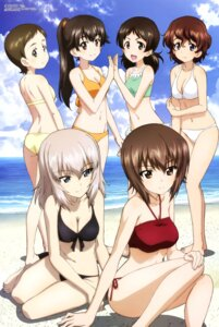 Rating: Safe Score: 40 Tags: akaboshi_koume ass bikini cleavage girls_und_panzer itou_takeshi itsumi_erika nishizumi_maho ritaiko swimsuits User: drop