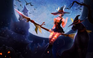 Rating: Safe Score: 19 Tags: cleavage dress halloween league_of_legends neko nidalee tagme thighhighs weapon witch User: Radioactive