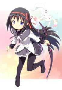 Rating: Safe Score: 36 Tags: akemi_homura kyubey pantyhose puella_magi_madoka_magica yamasan User: Nekotsúh