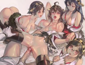 Rating: Explicit Score: 192 Tags: aoin breasts haruna_(kancolle) hiei_(kancolle) kantai_collection kirishima_(kancolle) kongou_(kancolle) megane miko nipples no_bra nopan open_shirt penis pussy sex thighhighs uncensored User: blooregardo