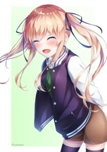 Rating: Safe Score: 20 Tags: saenai_heroine_no_sodatekata sawamura_spencer_eriri thighhighs yumemo User: Arsy
