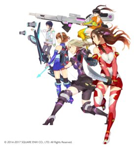 Rating: Safe Score: 18 Tags: bodysuit gun heels miyama_tsubame namori_mana sajima_yuumi school_girl_strikers sumihara_satoka sword tagme thighhighs weapon yaginuma_io User: saemonnokami