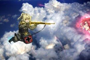 Rating: Safe Score: 12 Tags: crossover genya_(genya67) gun izetta shuumatsu_no_izetta tanya_degurechaff uniform youjo_senki User: charunetra