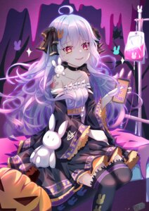 Rating: Safe Score: 20 Tags: halloween luo_shang_hua thighhighs User: BattlequeenYume