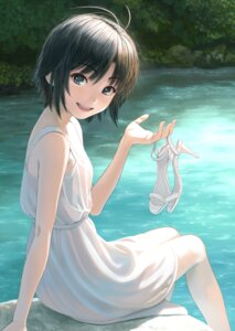 Rating: Safe Score: 25 Tags: dress heels kikuchi_makoto nekopuchi summer_dress the_idolm@ster User: Dreista