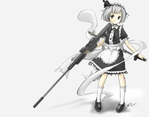 Rating: Safe Score: 12 Tags: gun konpaku_youmu maid sunyukun touhou User: Hime-ko