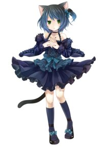 Rating: Safe Score: 47 Tags: animal_ears dress lolita_fashion nekomimi tail toudou_charo trap utau yami User: gnarf1975