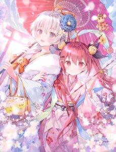 Rating: Safe Score: 45 Tags: kimono nimoshi umbrella User: kiyoe