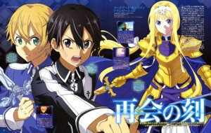Rating: Safe Score: 15 Tags: alice_schuberg aqua_inc. armor eugeo kirito sword sword_art_online sword_art_online_alicization uniform User: drop