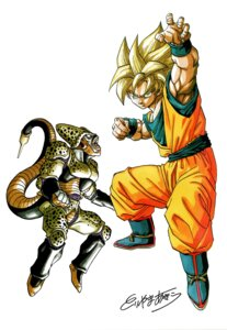Rating: Safe Score: 4 Tags: cell_(character) dragon_ball son_goku toriyama_akira User: OZKai2015