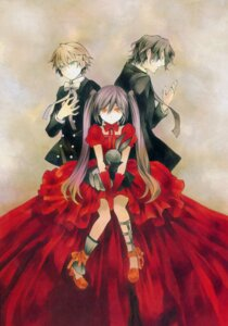 Rating: Safe Score: 11 Tags: alice_(pandora_hearts) gilbert_nightray mochizuki_jun oz_vessalius pandora_hearts User: hirotn
