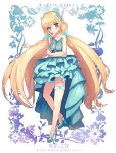 Rating: Questionable Score: 15 Tags: angela_balzac cpcp dress garter heels rakuen_tsuihou see_through User: charunetra