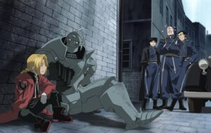 Rating: Safe Score: 7 Tags: alex_louis_armstrong alphonse_elric edward_elric fullmetal_alchemist maes_hughes male roy_mustang User: charunetra