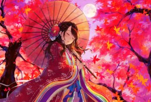 Rating: Safe Score: 45 Tags: japanese_clothes sudach_koppe umbrella User: BattlequeenYume