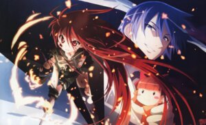 Rating: Safe Score: 12 Tags: friagne marianne seifuku shakugan_no_shana shana thighhighs torn_clothes User: Radioactive