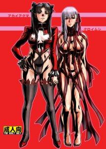 Rating: Questionable Score: 12 Tags: cameltoe erect_nipples fate/stay_night fujidana fujito heels matou_sakura nipples thighhighs toosaka_rin User: Radioactive