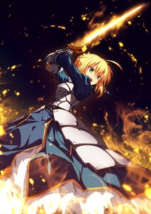 Rating: Safe Score: 32 Tags: armor dress fate/grand_order fate/stay_night saber sword ugume User: Nepcoheart