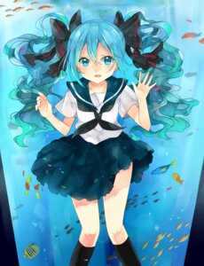 Rating: Safe Score: 29 Tags: hatsune_miku kakizato_shinano seifuku vocaloid User: Radioactive
