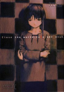 Rating: Safe Score: 6 Tags: abe_yoshitoshi iwakura_lain serial_experiments_lain User: Davison