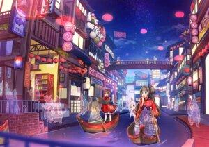 Rating: Safe Score: 3 Tags: animal_ears cherim japanese_clothes landscape nekomimi User: RyuZU