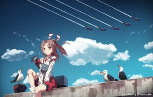 Rating: Safe Score: 32 Tags: bloomers kantai_collection landscape yunamul zuihou_(kancolle) User: Mr_GT